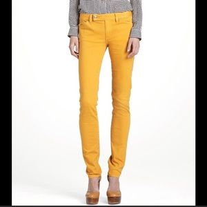 Tory Burch mustard 26 super skinny jeans